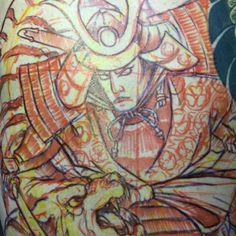 Samurai Tiger Tattoo, Skull Art, Samurai, Japanese, Painting, Japanese Language, Painting Art, Paintings, Skulls
