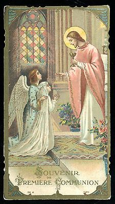 Old Holy Card of Communion with Jesus | eBay