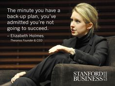 """Success is one person's life being better because of what we do, shared Elizabeth Holmes, the founder and CEO of medical device and technology company Theranos. """"Now it's about doing it again and again for more and more people."""" Read more insights on Twitter from her Stanford GSB View From The Top talk: stanford.io/1qEOogA #GSBvftt"""