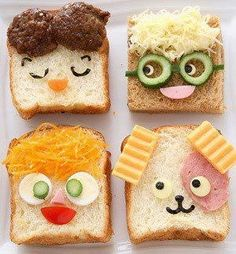 A whole lot of food art designs to make your kids smile, and hopefully eat their snacks. These incredible works of (food) art look too good to eat! Cute Food, Good Food, Yummy Food, Baby Food Recipes, Cooking Recipes, Cooking Tips, Yogurt Recipes, Fun Recipes, Food Decoration