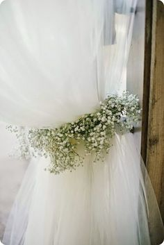 Baby's Breath tie backs.