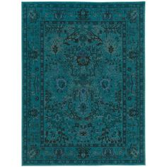 Home Decorators Collection Overdye Teal 7 ft. 10 in. x 10 ft. Area Rug-C3251A240305HD - The Home Depot