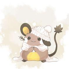 Winter Dedenne by raityu Pokemon Pins, Pokemon Comics, Pokemon Fan Art, My Pokemon, Cute Pokemon Pictures, Pokemon Images, Kalos Pokemon, Pokemon Painting, Pikachu