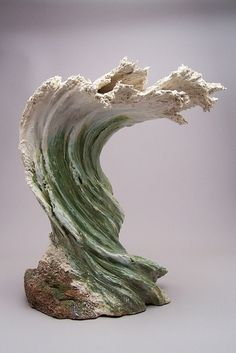 Denise Romecki's Surfing Wave Sculpture Statue Weblink: http://deniseromecki.com/index.html Facebook Page: https://www.facebook.com/pages/Denise-Romecki/543354055749354