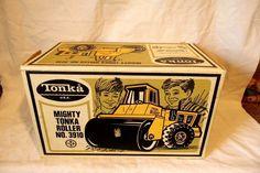 Vintage Mighty TONKA Roller & Original Box No.3910 Tonka Construction Roller | eBay
