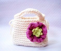 Little Girl's First Purse   Crochet bag pattern / PDF by TGLDdoll, $4.00