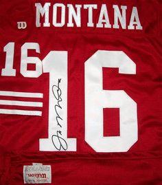 1991 49ers Joe Montana Authentic Jersey Sz 46 Pro Line Wilson USA Vtg AUTO RARE