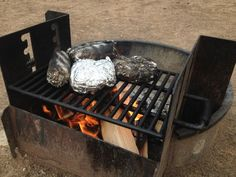 A camping recipe from Robin. This is a very quick and tasty meal. You just unroll the foil and dig in. Very little cleanup needed.