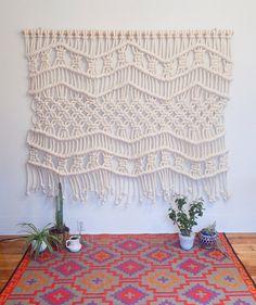 Macreme wall hanging / textile art / Sacred Spaces <3