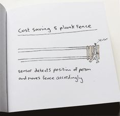 This minimalist fence. | 11 Inventions That Are So Absurd They Might Actually Be Genius