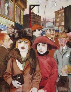 Rudolf Schlichter (1890-1955) - Berlin Hausvogteiplatz, 1926