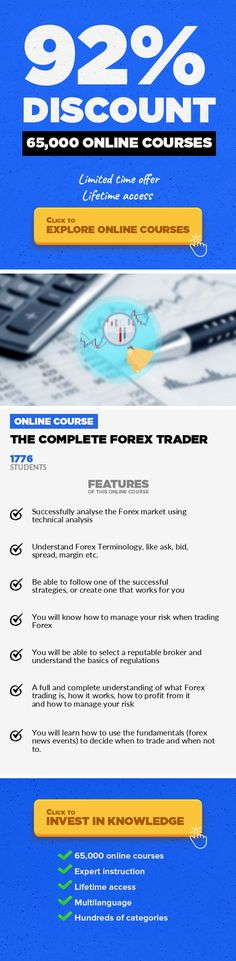 The Complete Forex Trader Finance, Business #onlinecourses #onlinelessonslink #onlinedegreetips  A practical application of the retail Forex market. A lock, stock and barrel approach to successful Forex trading In this Forex Trading Course, I  have shared my personal experience on how I developed THAT winning strategy. In  this course, I will teach you How to Trade Forex with these easy to follow ...
