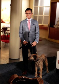 Chuck Bass and Monkey... I dig the plaid suit
