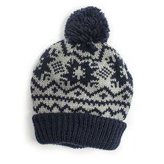Women's Snowflake Nordic Pom Cuff Cap