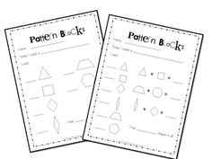 I love the idea of students selecting a pattern design, creating it, and using the pattern blocks data sheet to record their work. This would be great morning work and centers for the students!
