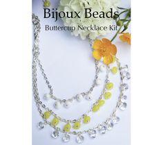Buttercup Layered Chain Necklace Layered Chain Necklace, Layered Chains, Beaded Necklace, Buttercup, Jewellery Making, Layers, Kit, Beads, Jewelry