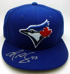 14d5353edc2 R.A. Dickey Autographed Toronto Blue Jays New Era Official On Field  Baseball Hat Price  179.00