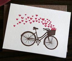 Valentine`s Day letterpress cards Love Valentines, Valentine Day Cards, Bicycle Cards, Cricut Cards, Heart Cards, Love Cards, Creative Cards, Anniversary Cards, Scrapbook Cards