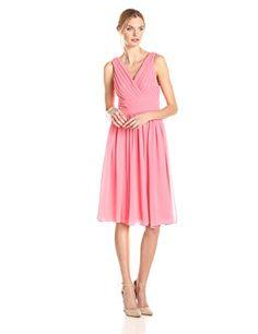 Eliza J Women's Sleeveless Dress with Pleated Bodice, Coral, 6 Eliza J http://www.amazon.com/dp/B00QPYISZE/ref=cm_sw_r_pi_dp_jzOlvb07SDZKM