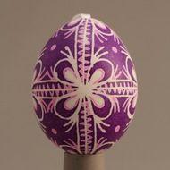 Lavender Burst Egg Decorating, Traditional Design, Christmas Bulbs, Lavender, Eggs, Holiday Decor, Handmade, Gifts, Home Decor