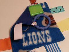Detroit Lions Unisex Baby Fleece Lovie with Teething by tbllovies, $6.50
