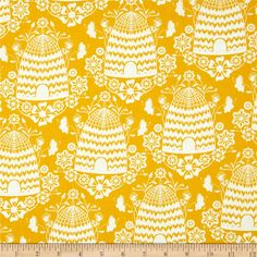 SUNFLOWER Fabric by the Yard, or Fat Quarter Orange & Yellow ... : discount quilting fabrics - Adamdwight.com