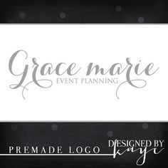 Premade Logo and Watermark for Photographers and other small business
