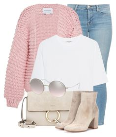 """13:19"" by monmondefou ❤ liked on Polyvore featuring J Brand, I Love Mr. Mittens, Cotton Citizen, Chloé, Gianvito Rossi, Michael Kors, Pink and chunkyknits"