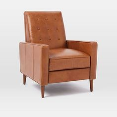 Living room accent chair alternate: Rhys Mid-Century Leather Recliner