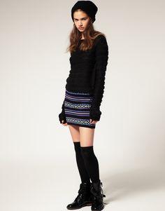 ASOS Fairlisle Knitted Tube Skirt