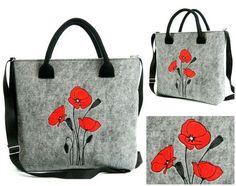 Kabelka Love Maky červené Needlework, Reusable Tote Bags, Canvas, Vintage, Maki, Design, Social Media, Templates, Embroidery