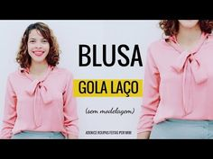 BLUSA GOLA LAÇO CORTE E COSTURA - Roupas Feitas por Mim - YouTube Dress Sewing Patterns, Blouse Designs, Graphic Sweatshirt, Blazer, Womens Fashion, Youtube, Stitching, Projects, Crafts