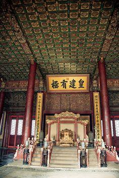Emperor's throne, Forbidden City in Beiging