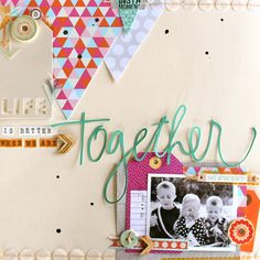seriously cute page - love the big triangles -Table Scraps