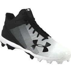 9a9f90aab66 Under Armour Leadoff Mid Rubber Molded Baseball Cleats - Mens Black White  Rogan s Shoes