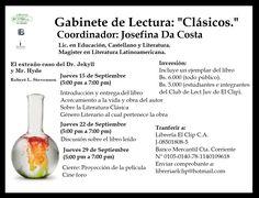 ¡No te quedes sin tu cupo para nuestro Primer #GabinetedeLectura! #EventosElClip #LibreríaElClip #Barquisimeto