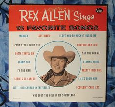 Rex Allen Sings 16 Favorite Songs (Singing cowboy country LP Vinyl Record)$12