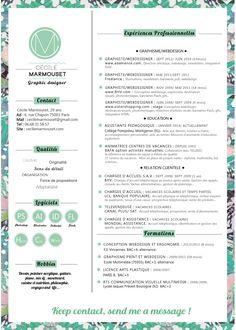 graphic designer, design textil, webdesigner, interractive designer, cecile marmouset, french, cv, resume, job, creativity, typography, flowers
