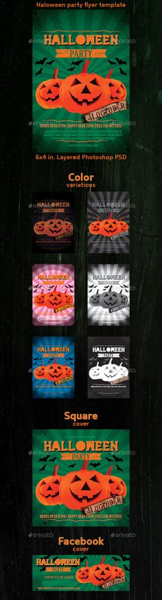 Halloween Party Flyer Template — Photoshop PSD #web #club • Available here → https://graphicriver.net/item/halloween-party-flyer-template/9214538?ref=pxcr