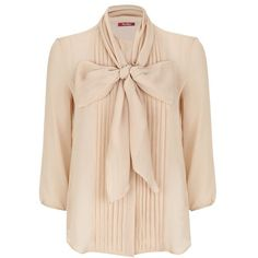 MaxMara Katai Pleated Silk Blouse (640 BAM) ❤ liked on Polyvore featuring tops, blouses, silk blouses, silk top, maxmara, beige blouse and pleated top