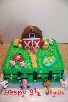 Barnyard Animal Cake