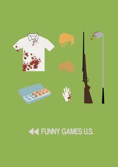 Funny Games - minimal movie poster - BuiltToFail.deviantart.com