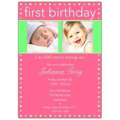 Born and 1 yr. Invitation idea