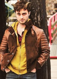Because of the time, the books are better than the movies. Some of these film adaptations, though, look really promising. Michael Angarano, Leather Jackets Online, Randal, Vintage Biker, Daniel Radcliffe, Leather Blazer, Celebrity Look, Piece Of Clothing
