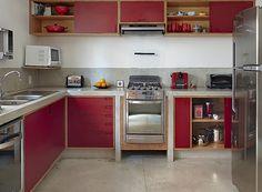 arquitetos Daniela Ruiz e Carlos Verna - cozinha - bancada de cimento - mdf…