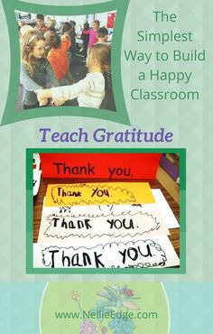 """Build a Happy Classroom: Teach Gratitude! Learning to Express Gratitude Is a Year-Long Theme: We Sing, Sign, Spell, Express and Write """"Thank You. Kindergarten Handwriting, Kindergarten Anchor Charts, Kindergarten Literacy, Social Emotional Development, Social Emotional Learning, Social Skills, Abc Phonics, Habits Of Mind, Writing Strategies"""
