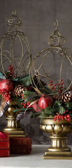 horchow-holiday-topiaries-.jpg 273×635 pixels This would be the winning prize on my front porch!!!  Love this!!!