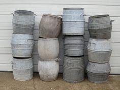 Zinc wash tubs