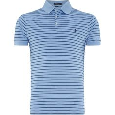 Polo Ralph Lauren Striped Stretch Mesh Polo ($125) ❤ liked on Polyvore featuring men's fashion, men's clothing, men's shirts, men's polos, mens mesh shirt, mens stretch shirts, mens striped polo shirts, polo ralph lauren mens shirts and mens striped shirt