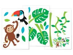 Add some fun, colour and magic to your little ones room with this Jungle Friends wall sticker set by Speckled House! The perfect way to decorate your child's room, baby nursery, play room or ANY room of the house!  Best part about these wall stickers? Once the new craze sets in and they MUST have a perfectly themed room again simply peel off and you're done!  No re-painting required! #littlebooteekau #jungletheme #kidsrooms